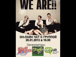 Приглашение на он-лайн чат с WE ARE!!