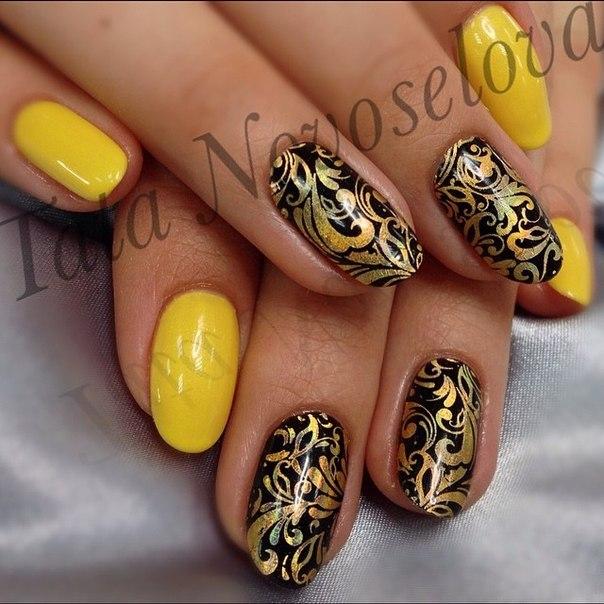 Дизайн ногтей фото хохлома