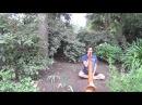 Tyler Sussman plays the didgeridoo
