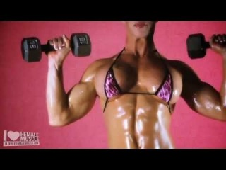 Female Muscle Babe Ginger Martin Working Out