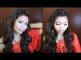 ♥ Braided Bangs and Voluminous Curls Hairstyle for Medium Long Hair Tutorial