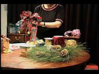 Бант для рождественского венка/How to Make a Perfect Christmas Wreath Bow