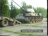 Nakládání tanku T-34/85 na podvalník s vozem Tatra 813 8x8 Kolos