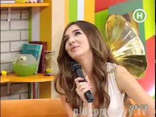 Sabina Babayeva - Eurovision 2012, Azerbaijan - Sabina at morning TV-show at Novy Channel