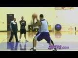 Dwight Howard Battle Rookies Sacre & Somogyi - (Lakers Practice - 11-10-12)