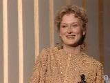 Meryl Streep winning an Oscar® for