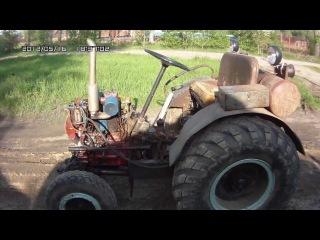 Самодельный трактор Т-25 обзорное видео