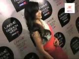 Esha Gupta Looks Gorgeous in Pink Saree at the Manish Malhotra's Show- Lakme Fashion Week 2013