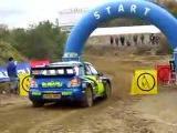 WRC - Petter Solberg starts on Subaru Impreza WRX STI