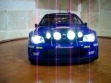 1/18 Subaru Impreza WRX STI WRC Night Race RALLY Diecast Toy Car WORKING Lights
