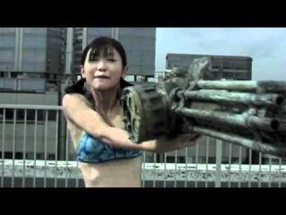 Japan machine gun girl in bikini