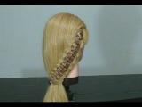 Легкая прическа для длинных волос. Коса