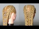 Прическа для длинных волос. Hairstyle for long hair.