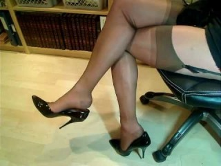 Part I - Stockings and heels - teasing?