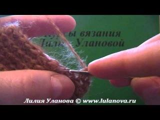 Варежки с пальчиком крючком