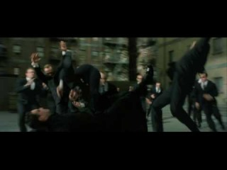 Neo Fights lots of Smith's in HD Matrix Reloaded