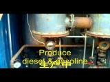 Pyrolysis plant for waste tire and plastic scrap-planta de reciclaje de llantas