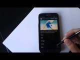 Samsung Galaxy Note II ink effect Android 4.1.2 test firmware