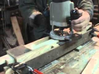 Изготовление паза  ручным фрезером. Вариант 1