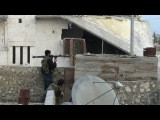 Сирия,Солдат FSA неудачный выстрел с гранатомета 18+