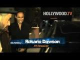 Rumer Willis and Rosario Dawson dine at STK
