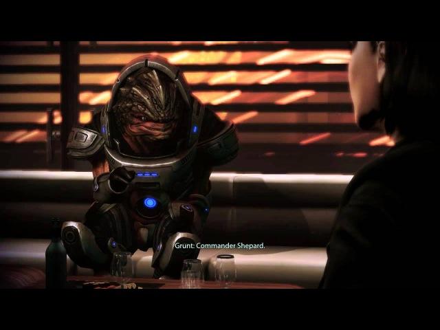 Mass Effect 3: Citadel DLC - Wrex, Grunt, and Shepard (x3) (Femshep) [Party Scene]