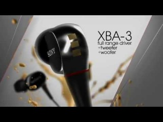 Sony® XBA Balanced Armarture Headphones - XBA-3 (3 DRIVERS)