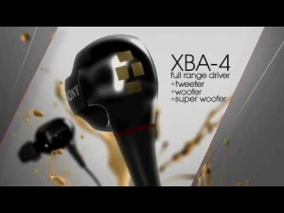 Sony® XBA Balanced Armarture Headphones - XBA-4 (4 DRIVERS)