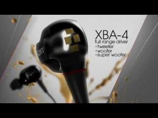 Sony® XBA Balanced Armarture Headphones - XBA-4 (4 DRIVERS)