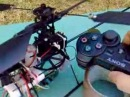 Model helicopter controlled by PS3 SIXAXIS