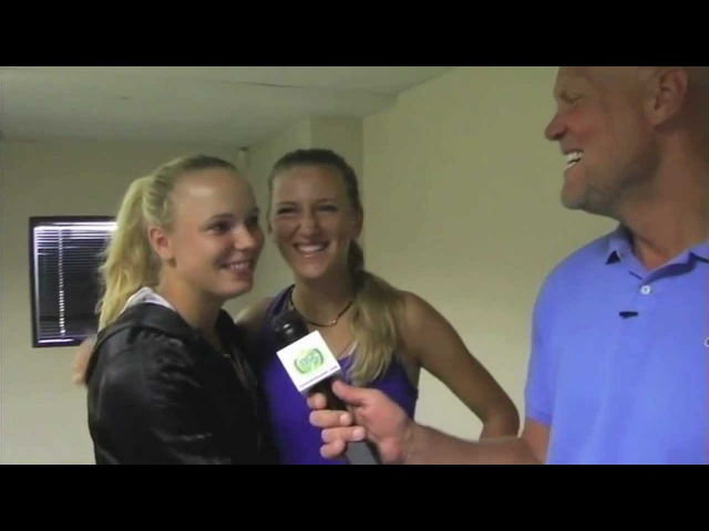 Vika Azarenka and Caroline Wozniacki Talk to TennisKidsZone's Murphy Jensen about their Friendship » Freewka.com - Смотреть онлайн в хорощем качестве