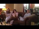 Sara Canning & Mia Kirshner On set of