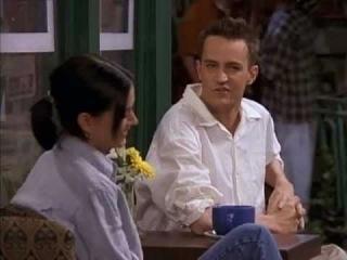 Friends (3x25 - 4x01) Chandler insiste a Monica para que sea su novia/ A Monica le pica una medusa