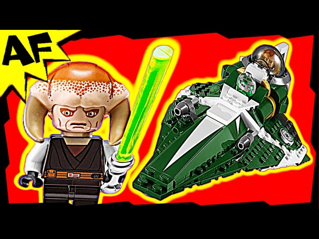 Star Wars Saesee Tiin's Jedi Starfighter Animated Lego Building Review set 9498