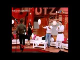 Alexander Rybak & Paula Seling in the show Danutz on TVRi 3.6.12