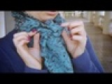 Как можно красиво и правильно завязать длинный шарф на шее, платок, палантины