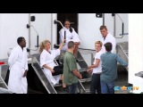 First 'Catching Fire' Set Photos of Josh Hutcherson & Sam Claflin