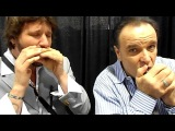 Jason Ricci, Rob Paparozzi &amp William Galison at NAMM 2012 - Suzuki Harmonica booth