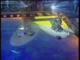 Hypno-Disc vs Stealth (Robot Wars Battle)