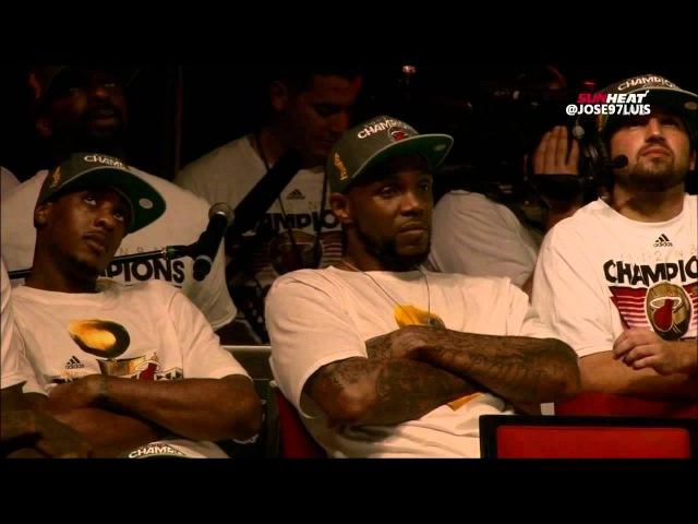2012 NBA Champions Miami Heat Arena Rally Player inteviews and playoffs recap Part 2 HD
