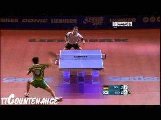 World Cup: Joo Se Hyuk-Timo Boll Настольный теннис матч- Джу Си Хюк корейский мастер подрезок и самый лучший защитник в мире!