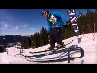 GoPro:  Лыжи,Megapark 2012