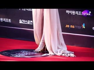 [TheSTAR] '백상' 한효주, '옆구리'노출?...누드톤드레스에 '깜짝'