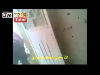 Сирия,выстрел из RPG по террористам ССА ( FSA).