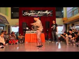 SUPER FUNKY 2012 | POPPIN FINAL | JROCK VS VIHO(WIN)
