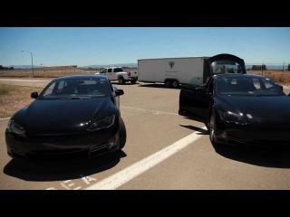 Tesla Model S Sneak Peek: Alpha Drives