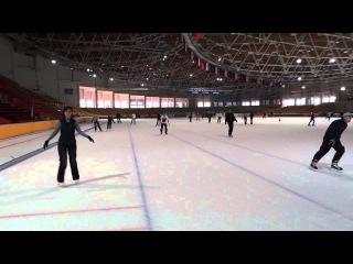 Торможение на коньках. (Penguin Stop)