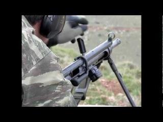 Hellenic National Guard HK11 firing full auto.
