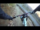 Cwmcarn DH Mountain biking with Martin James - goPro - Good crash shot!