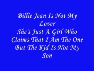 Michael Jackson Billie Jean Lyrics